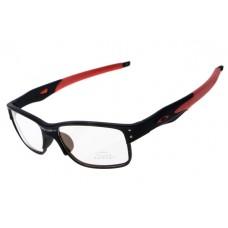 Oakley Crosslink Sunglasses Black Red Frame Clear Lens