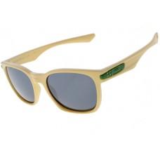 Oakley Garage Rock Sunglasses Round Matte Bone Frame Dark Grey Iridium Lens