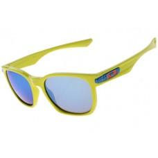 Oakley Garage Rock Sunglasses Round Neon Yellow Frame Violet Iridium Lens