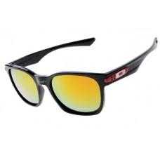 Oakley Garage Rock Sunglasses Round Polishing Black Frame Fire Iridium Lens