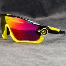Oakley Sunglasses Jawbreaker yellow/black Frame fire Iridium Lens yellow logo