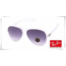 Ray Ban RB4180 Aviator Sunglasses Transparent Frame Purple Gradient Lens
