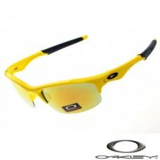 Oakley Bottle Rocket Sunglasses Polished Yellow Frame Fire Iridium Lens