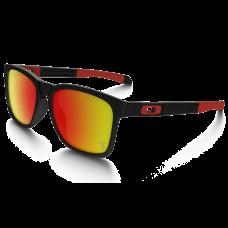 Oakley Catalyst SCUDERIA FERRARI Sunglasses Matte Black Frame Ruby Iridium Lens