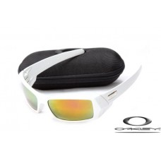 Oakley Gascan Sunglasses White Frame Fire Yellow Iridium Lens OAKLEY20156199