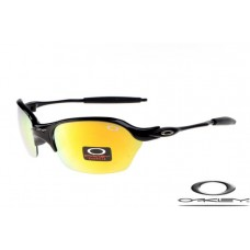 Oakley Half X Sunglasses Polishing Black Frame Yellow Iridium Lens OAKLEY20156233