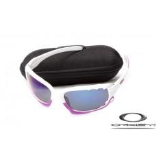 Oakley Jawbone Sunglasses White Frame Blue Iridium Lens OAKLEY20156235