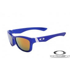 Oakley Jupiter Sunglasses Polishing Blue Frame Fire Yellow Iridium Lens OAKLEY20156200