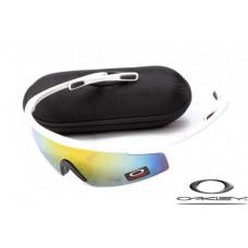 Oakley M Frame Sunglasses White Frame Yellow Blue Iridium Lens OAKLEY20156236