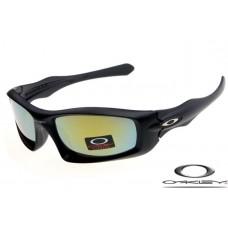 Oakley Monster Pup Sunglasses Frosting Black Frame Gray Yellow Iridium Lens OAKLEY20156185