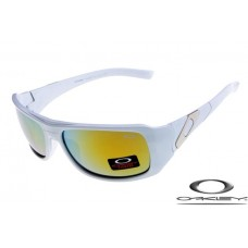 Oakley Sideways Sunglasses Polishing White Frame Yellow Blue Iridium Lens OAKLEY20156190