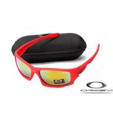 Oakley Ten Sunglasses Red Frame Fire Yellow Iridium Lens OAKLEY20156191