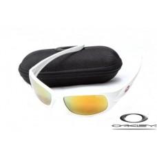 Oakley XS Fives Sunglasses White Frame Fire Yellow Iridium Lens OAKLEY20156216