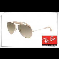 Ray Ban RB3422Q Aviator Sunglasses Arista Frame Grey Gradient Lens