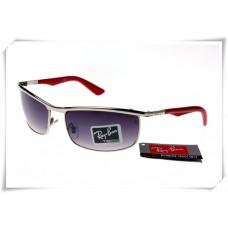 Ray Ban RB3459 Sunglasses Gunmetal Red Frame Purple Gradient Lens