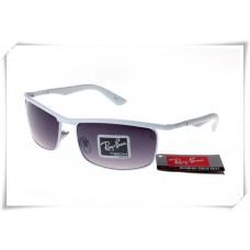 Ray Ban RB3459 Sunglasses White Frame Purple Gradient Lens