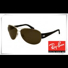 Ray Ban RB3467 Sunglasses Gunmetal Frame Deep Green Lens