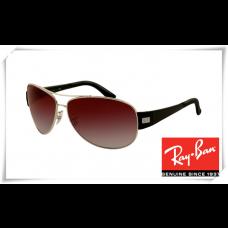 Ray Ban RB3467 Sunglasses Gunmetal Frame Wine Red Gradient Lens