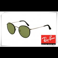 Ray Ban RB3475Q Round Craft Sunglasses Black Frame Green Legend Lens
