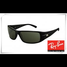 Ray Ban RB4057 Sunglasses Black Frame Grey Lens
