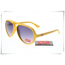 Ray Ban RB4125 Cats 5000 Sunglasses Polishing Yellow Frame Grey Gradient Lens