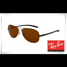 Ray Ban RB8301 Tech Sunglasses Brown Frame Brown Lens