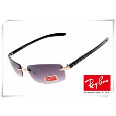 Ray Ban RB8304 Tech Sunglasses Black Frame Purple Gradient Lens