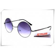Ray Bans Round Metal RB3447 Sunglasses Black Frame Purple Gradient Lens
