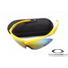 Oakley M Frame Sunglasses Polishing Yellow Frame Yellow Blue Lens OAKLEY20156465