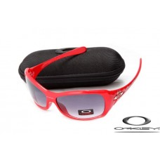 Oakley Necessity Women Sunglasses Polishing Red Frame Gray Lens OAKLEY20156444