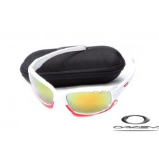 Knock off Oakleys Jawbone White Frame Yellow Vented Lens