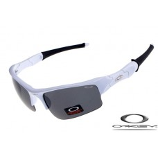 Oakley Flak Jacket Sunglasses Polishing White / Black Lens