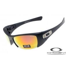 Wholesale Imitation Oakley Hijinx Sunglasses Black Frame Fire Lens For Sale USA