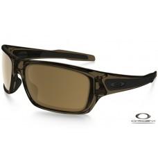 Oakley Turbine Sunglasses Clear Brown Frame Brown Lens