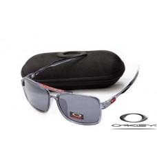 Oakley Men's Deviation Square Sunglasses Transparent Gray Frame Gray Lens OAKLEY20156438