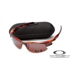 Wholesale Imitation Oakley Fast Jacket Sunglasses Annatto silk Frame Brown Lens For Sale