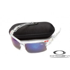 Wholesale Cheap Oakley Fast Jacket Sunglasses Crystal Frame Dark purple Lens For Sale